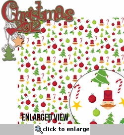 Naughty Or Nice: Christmas 2012 2 Piece Laser Die Cut Kit