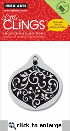 Decorative Ornament Clings Rubber Stamp