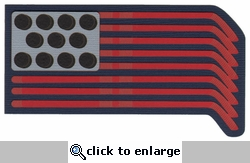 US Hockey Flag Laser Die Cut