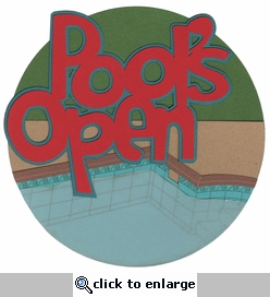 Pool's Open Laser Die Cut