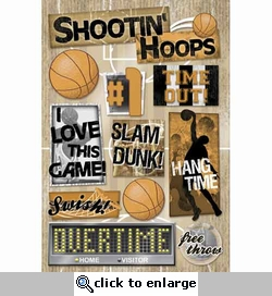 Basketball: Hang Time Cardstock Sticker