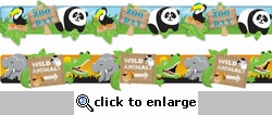 Zoo Stacked Border Stickers