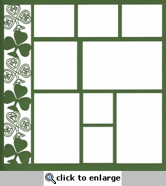 Shamrock 12 x 12 Overlay Laser Die Cut-<font color=red> <b>we &hearts; this</b></font>