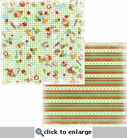 Party at the Pole: Mrs. Clause's Kitchen 12 x 12 Double-Sided Paper
