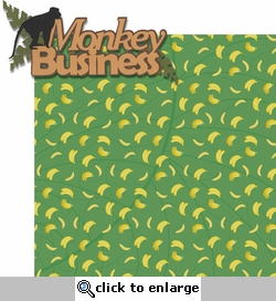 Gone Wild: Monkey Business 2 Piece Laser Die Cut Kit