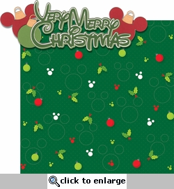 Very Merry: Very Merry Christmas 2 Piece Laser Die Cut Kit