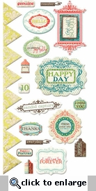 Anthologie: Embossed Stickers