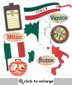 ITALIAN DESTINATION DIMENSIONAL STICKER �