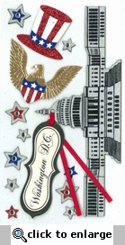Glitter Washington DC Dimensional Sticker