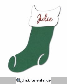 Custom Green Stocking
