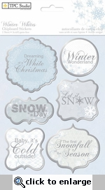 Winter Whites: Chipboard Stickers