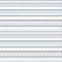 Winter Whites: Snowflake Stripe 12 x 12 Double-Sided Paper