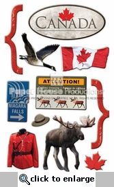 Canada 3D Stickers