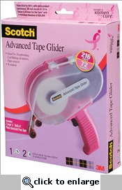 Scotch Pink Advanced Tape Glider and Tape