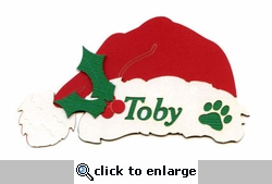 Custom Dog Santa Hat Laser Die Cut