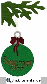 Custom Ornament Glitter Laser Die Cut