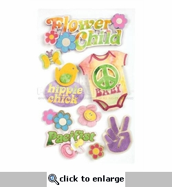 Flower Child Dimensional Sticker