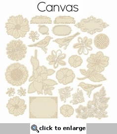 Meadow Lark: Delicate Resist Canvas