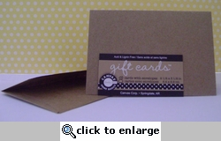 Kraft Gift Cards and Envelopes (8 Pack)
