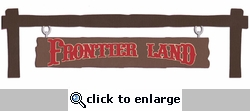 Frontier Land: Frontier Land Sign Border Laser Die Cut