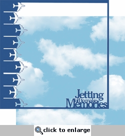 At The Airport: Jetting Off To Make Memories 2 piece 12 x 12 Overlay Quick Page Laser Die Cut