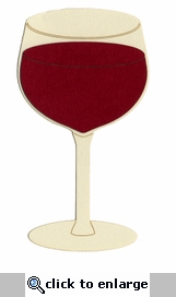 Red Wine Glass Laser Die Cut