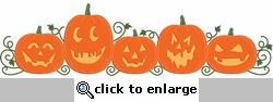 Digital Download: Jack-o-lantern Border Laser Die Cut