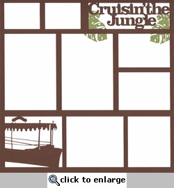 Cruisin' The Jungle Theme Park 12 x 12 Overlay Laser Die Cut