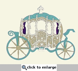 Princess Carriage Laser Die Cut
