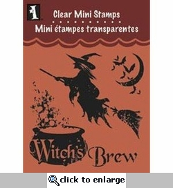 Witches Brew Clear Mini Stamp