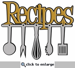 Digital Download: Recipes Laser Die Cut