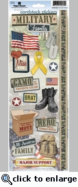 Military Family Cardstock Sticker