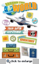 World Travel 3D Stickers