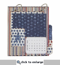 Stars and Stripes Perpetual 2011 & 2012 Calendar Photo Kit- 84 Pieces!
