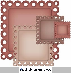 Nestabilities Decorative Elements: Eyelet Squares Dies