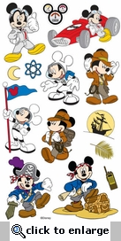 Mickey Themes Stickers