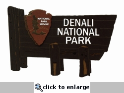 Denali National Park Sign Laser Die Cut