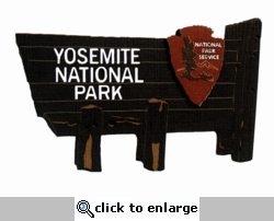 Yosemite National Park Sign Laser Die Cut