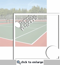 Match Point:Tennis Anyone? 12 x 12 Overlay Quick Page Laser Die Cut-<font color=red><b>We LOVE!</b></font>