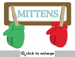 Digital Download: Mittens Laser Die Cut