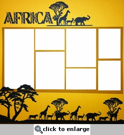 Theme Park: Africa Page Overlay Laser Die Cut