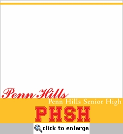 Custom School Footer 12 x 12 Paper