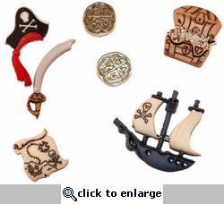 Pirates Buttons