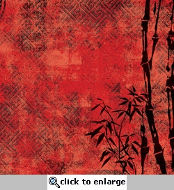 Distressed Bamboo Border 12 x 12 Paper