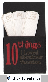 Custom 10 Things Pocket Laser Die Cut