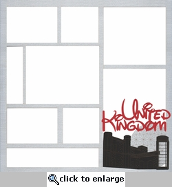 United Kingdom Theme Park 12 x 12 Overlay Laser Die Cut