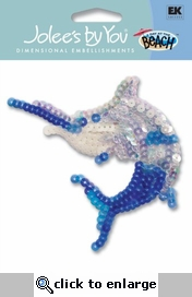Sword Fish Sequin Jolee's By You Dimensional Sticker