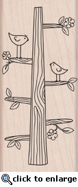 Tree Trunk Woodblock Stamp