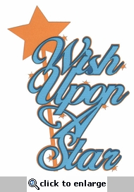 Theme Park Wish Upon A Star Laser Die Cut