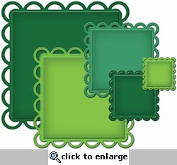 Nestabilities Decorative Elements: Lacey Squares Dies